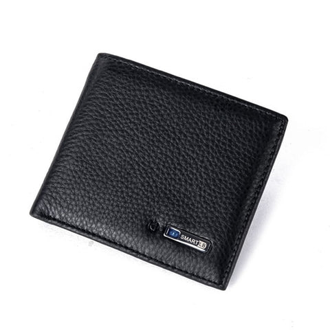 Leather Bluetooth Wallet - Black - Bifold Wallet