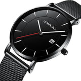 Simple Mens Watch With Date - Black - Mechanical Watches
