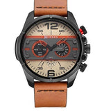 Leather Quartz Sport Watch - 2 - Watches