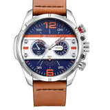Leather Quartz Sport Watch - 4 - Watches