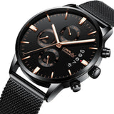 Black Chronograph Stainless Steel Watch - Mechanical Watches
