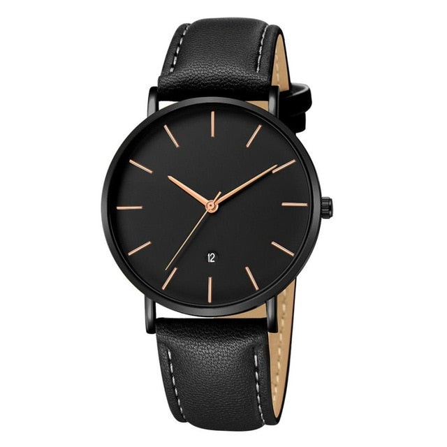 Leather Minimalist Design Watch - Leather Watches
