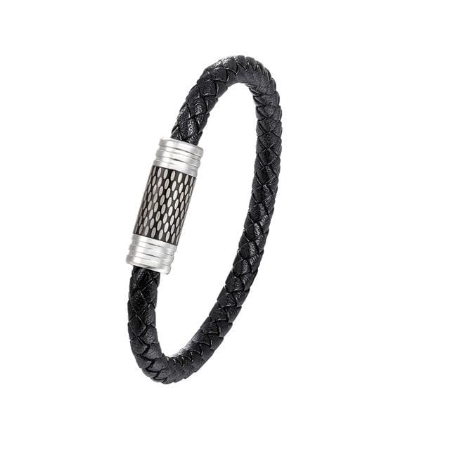 Mens Braided Steel Wire Magnetic Bracelet - Tz-86 / 7.5 Inches - Bracelets