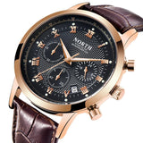 Leather Waterproof Chronograph Watch - Leather Watches