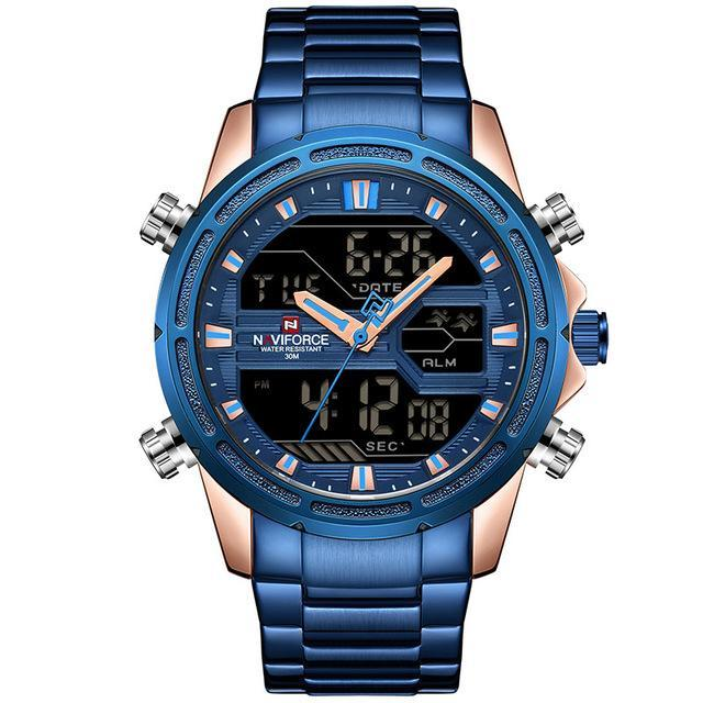 Military Dual Display Watch - Blue - Mechanical Watches