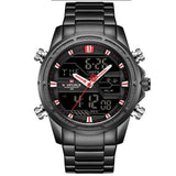 Military Dual Display Watch - Black Red - Mechanical Watches