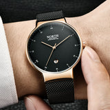 Mens Quartz Mesh Band Watch - Watches
