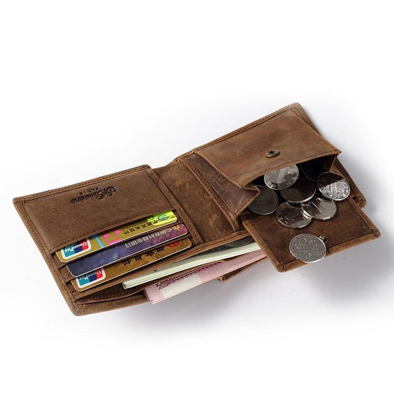 Leather Wallet With Coin Pocket - Bifold Wallet