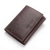 Trifold Wallet In Dark & Light Brown - Dark Coffe - Trifold Wallet