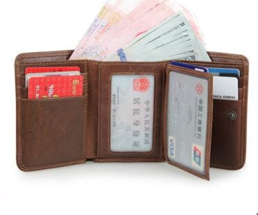 Trifold Leather Wallet - Trifold Wallet