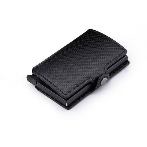 Carbon Fiber Billfold Slim Wallet - Black - Bifold Wallet