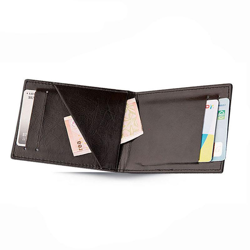 Vintage Leather Portfolio Wallet - Minimalist Wallets For Men