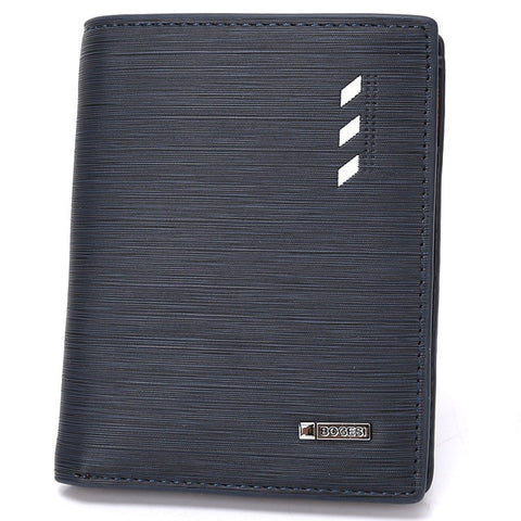 Slim Profile Bifold Leather Wallet - Blue - Bifold Wallet