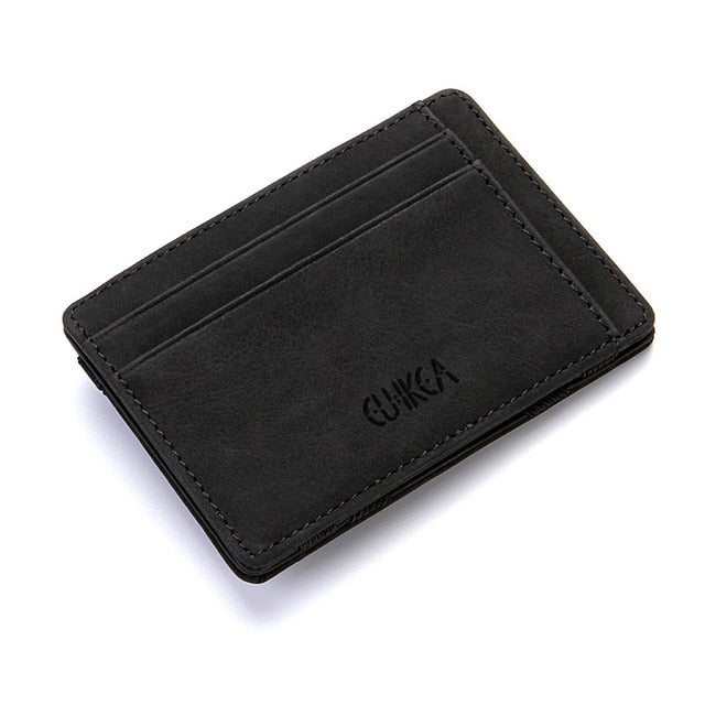 Slim Magic Wallet Wallet With Zipper - Black - Minimalist Wallets For Men