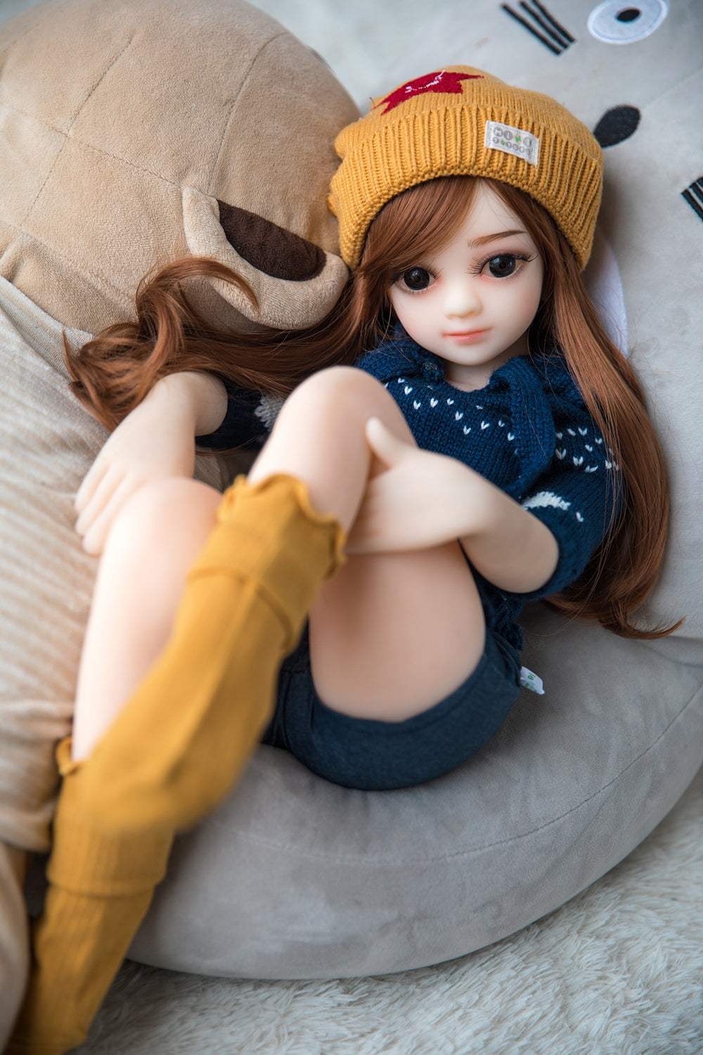 flat chested silicone doll online