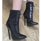 Gothic lace-up victorian ankle boot