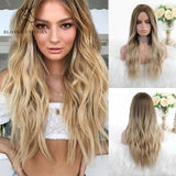 Blonde  Ombre Blonde Brown Long Wig