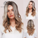 Blonde Long Natural Wavy Hair Wigs