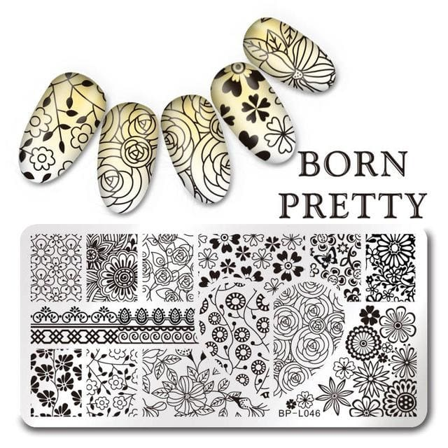 Inevitably Beautiful - 1Pc Born Pretty Nail Stamping Template Plate