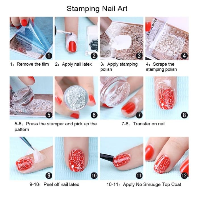 Inevitably Beautiful Born Pretty Square Nail Stamping Template