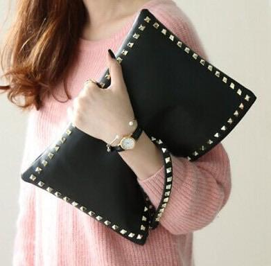 Black Rivet Wristlet Crossbody-Accessories-Beauty and Fashion Necessities-Shop The Dapper Squirrel Boutique for Women