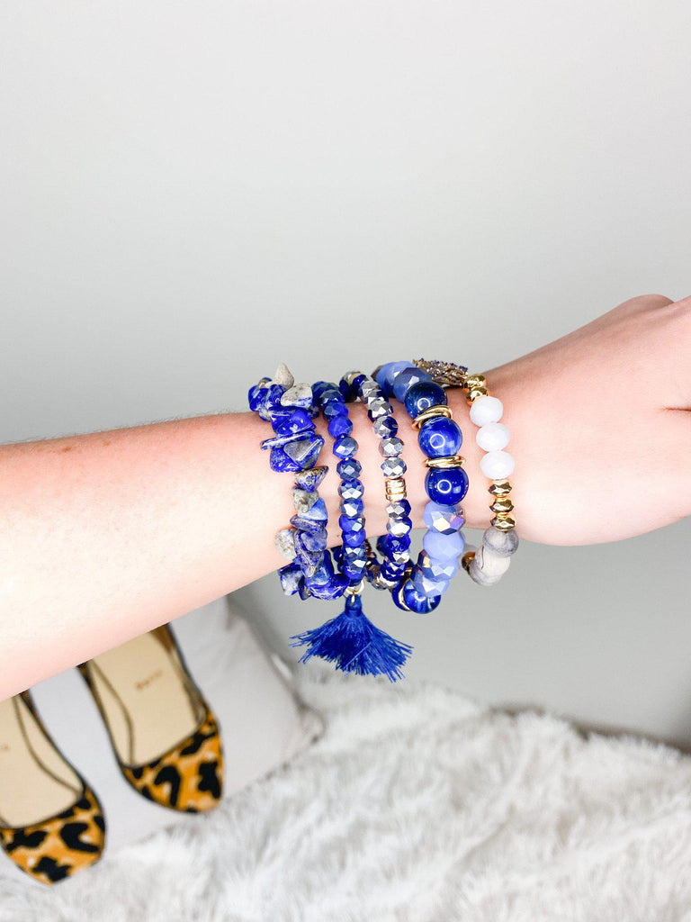 Blue Stack Bracelet Set