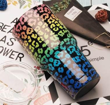 Rainbow Cheetah Tumbler-Accessories-Beauty Stash-Shop The Dapper Squirrel Boutique for Women