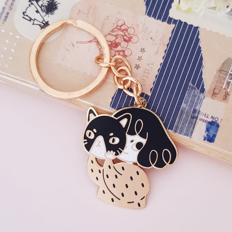 Disguise Enamel Keyring
