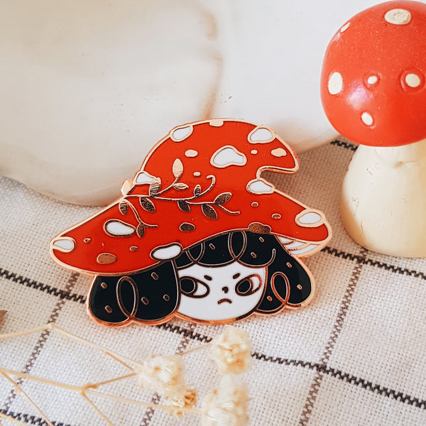 Mushroom Witch Pepper Hard Enamel Pin
