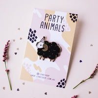Sheep Party Animal Hard Enamel Pin