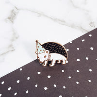 Hedgehog Party Animal Hard Enamel Pin