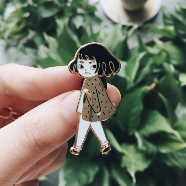 Catwalk series - Girl Hard Enamel Pin