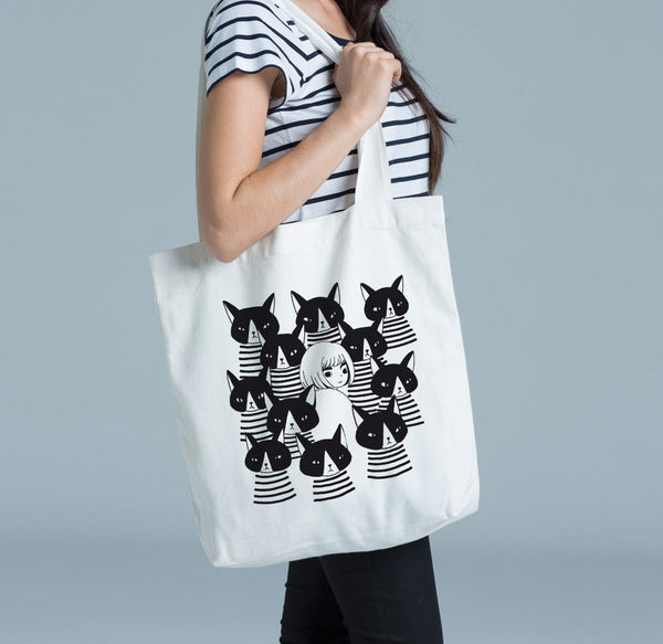 Strangers - Cotton Canvas Tote Bag