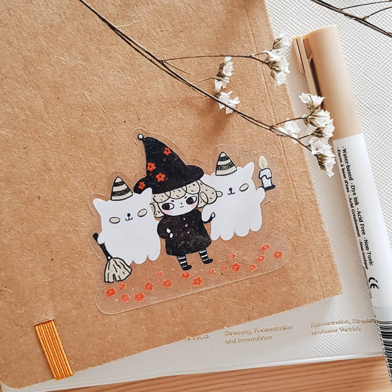 Halloween Pepper Clear Sticker