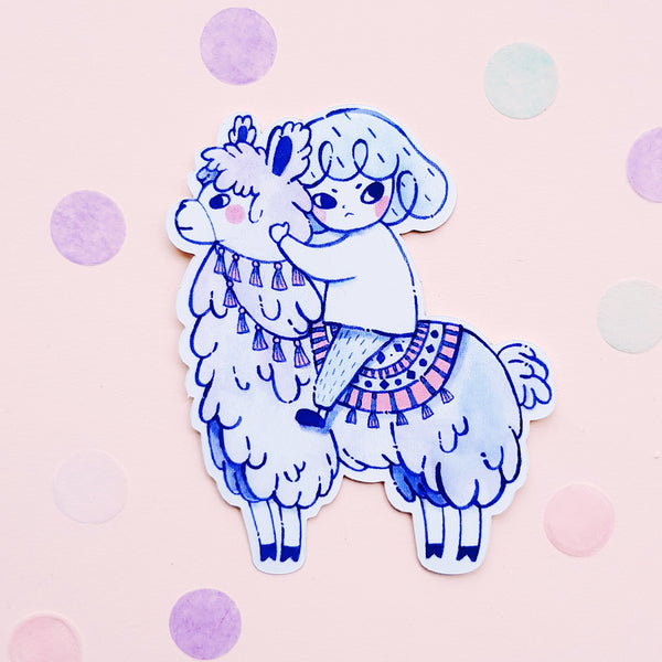 Alpaca Vinyl/ Metallic Sticker