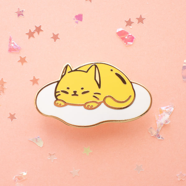Cat Egg Hard Enamel Pin