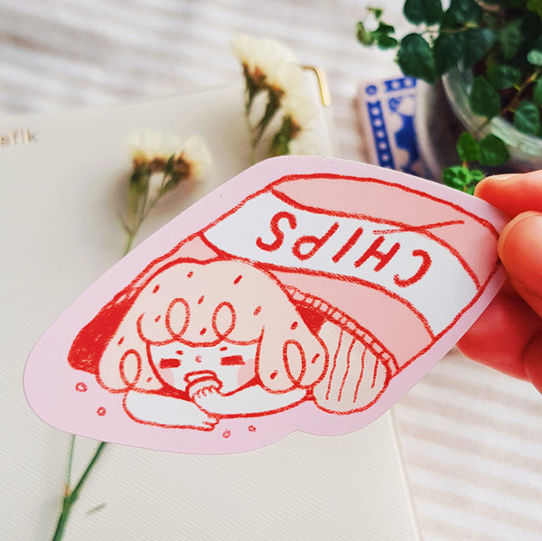 Chips Vinyl/ Holographic Sticker