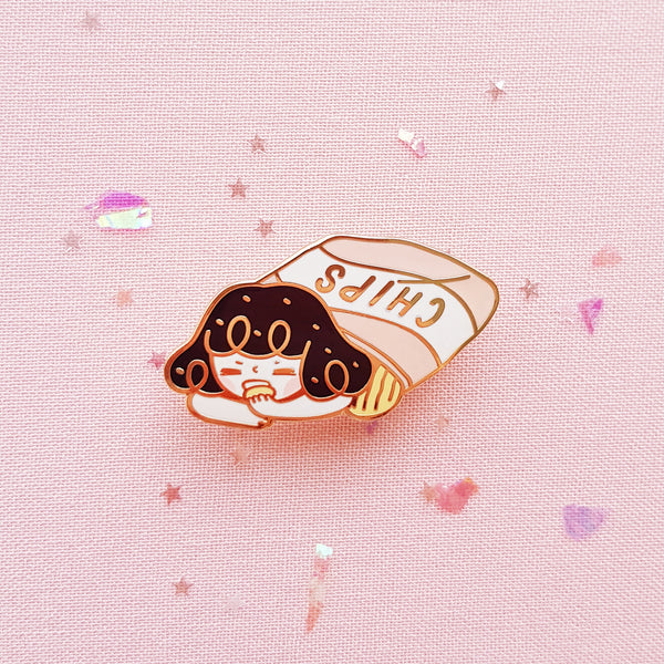 Chips Hard Enamel Pin