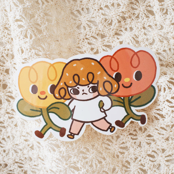 Floral Adventure Vinyl Sticker