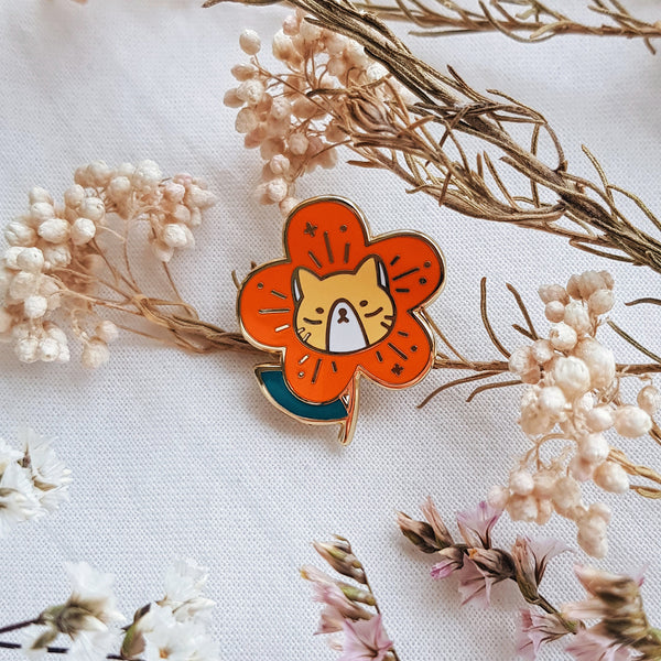 Flower Cat Hard Enamel Pin