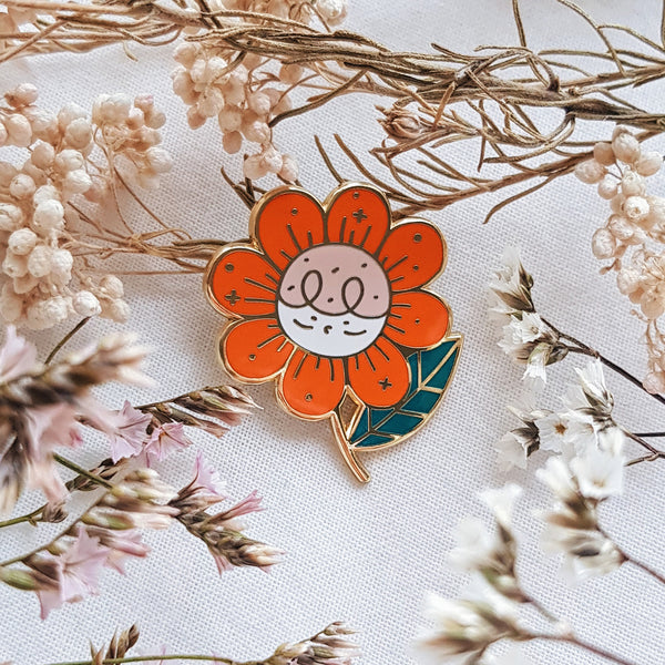 Flower Pepper Hard Enamel Pin
