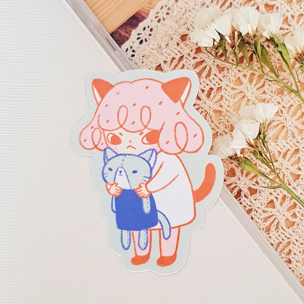 Hug Vinyl/ Metallic Sticker