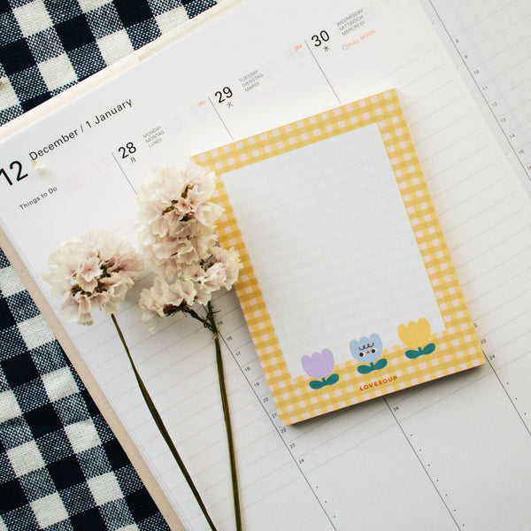 Floral Memo Pad - Yellow