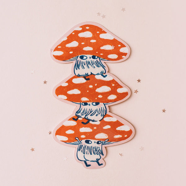 Mushroom Boys Stack Vinyl/metallic Sticker