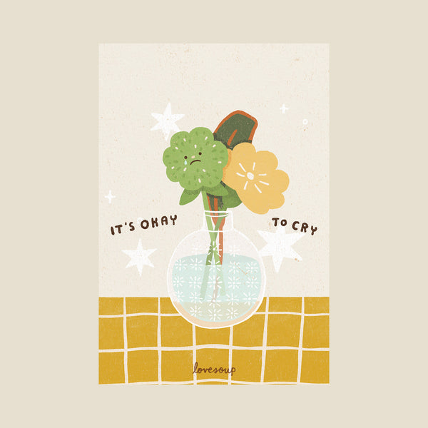 It's Ok To Cry Postcard