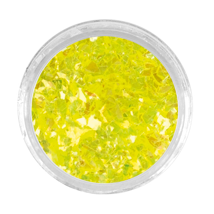 LCN Nail Art Crushed Glitter Neon Yellow