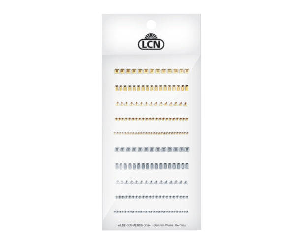 LCN Nail Art Jewelry, 10 rows, silver & gold