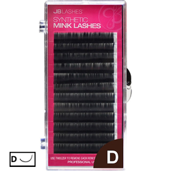 JB LASH D-Curl, Black Lashes, 0.20x13mm