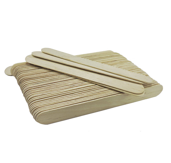 Wood Spatula, Wide, 50 pcs