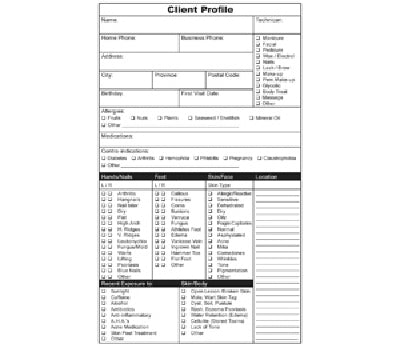 Refills for Client Record Book, Profile/Service, 50 pgs